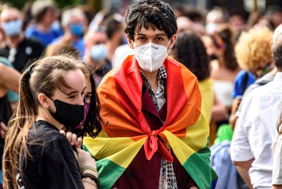 Manifestación por el Día del Orgullo en la Gran Vía de Bilbao. EFE/JAVIER ZORRILLA