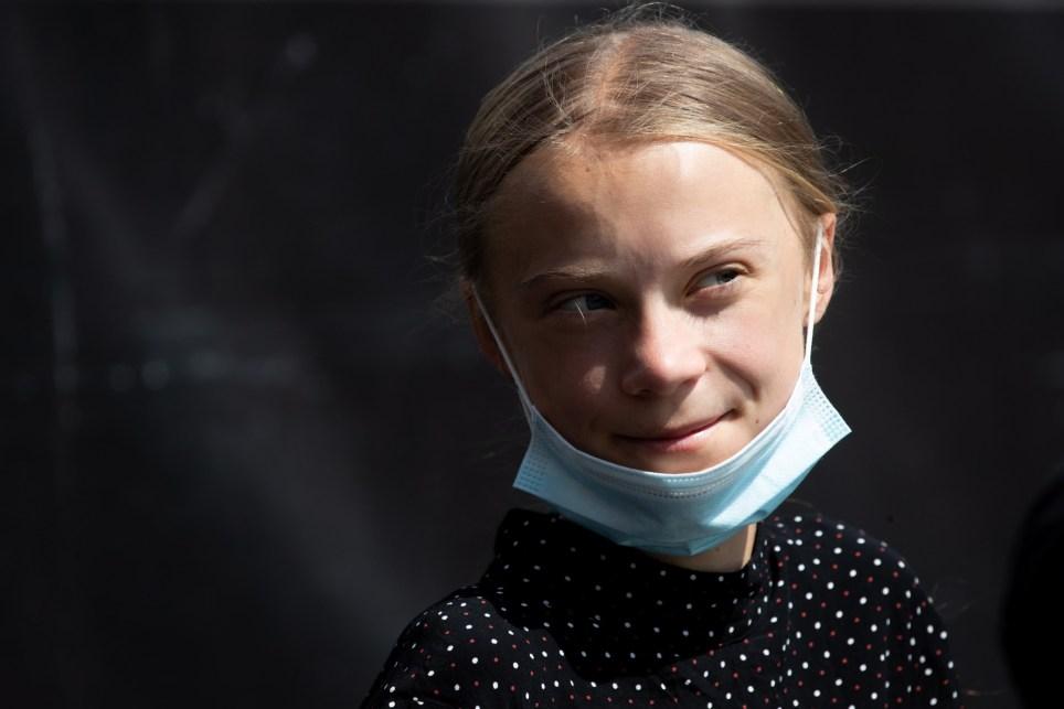 Greta Thunberg durante una conferencia de prensa en Berlín el 20 de agosto. EFE/EPA/Hayoung Jeon