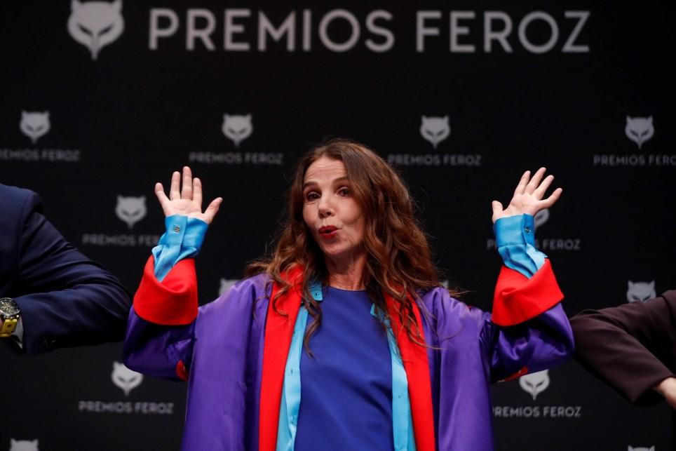 La actriz Victoria Abril durante la rueda de prensa convocada con motivo de la concesión a la actriz del Feroz de Honor 2021. EFE/Emilio Naranjo