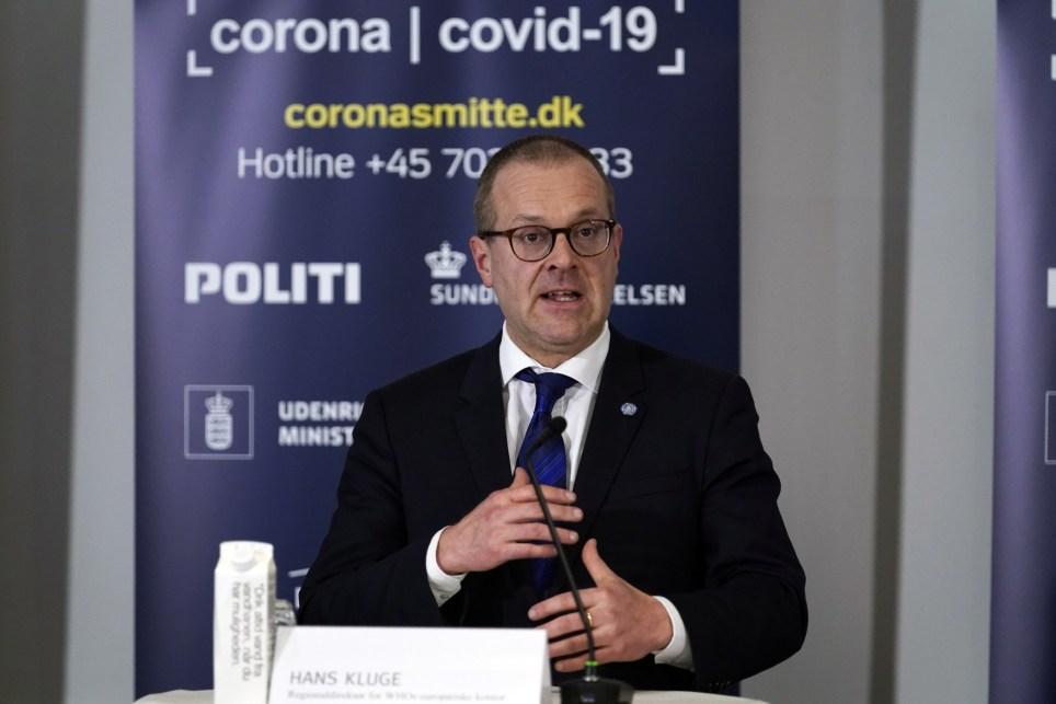 El director regional para Europa de la OMS, Hans Kluge, en una rueda de prensa en Copenhague, Dinamarca, en 2020. EFE/EPA/IDA GULDBAEK ARENTSEN