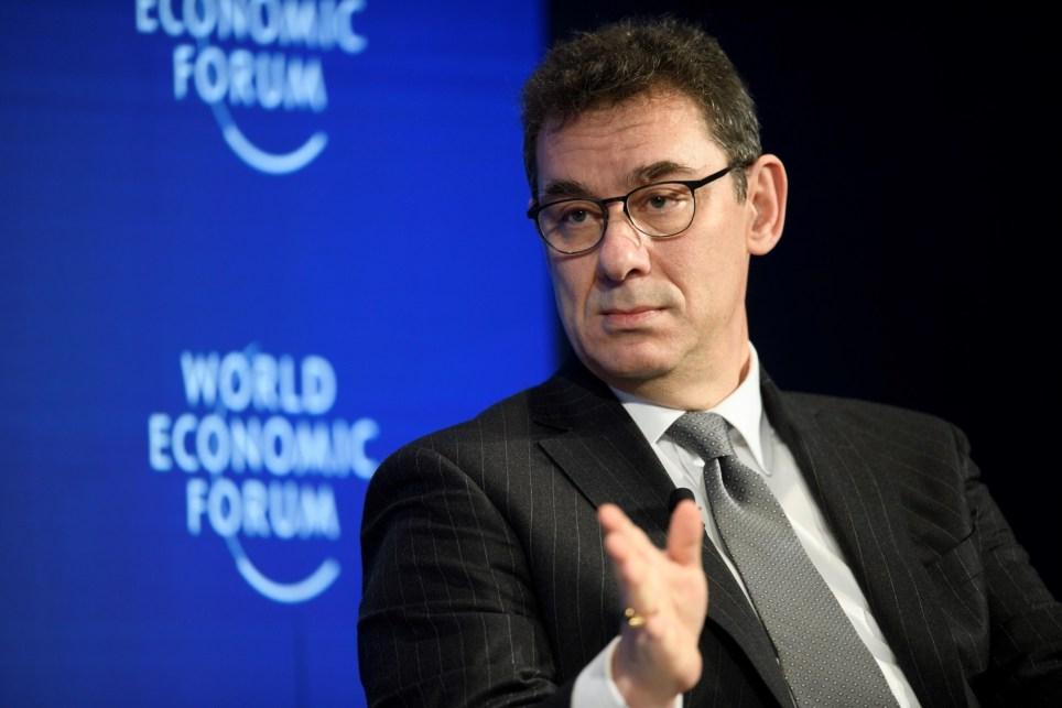 El CEO de Pfizer, Albert Bourla, interviene en la 48 edición del Foro de Davos en enero de 2018, en Davos (Suiza). EFE/ Gian Ehrenzeller/Archivo