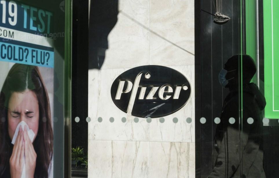 Sede central de la farmacéutica Pfizer en Nueva York. EFE/EPA/Justin Lane