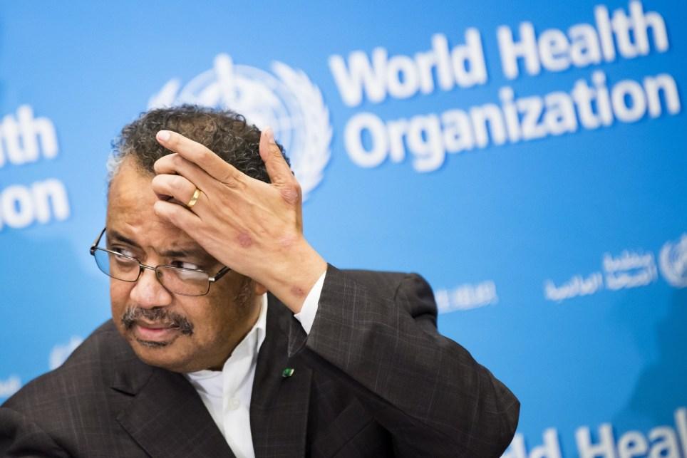 El director general de la OMS, Tedros Adhanom, en rueda de prensa en Ginebra. EFE/EPA/Jean-Christophe Bott.
