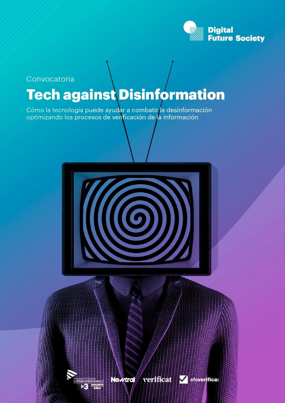 Convocatoria de Digital Future Society para buscar soluciones que permitan atajar la creciente desinformación a través de la tecnología.