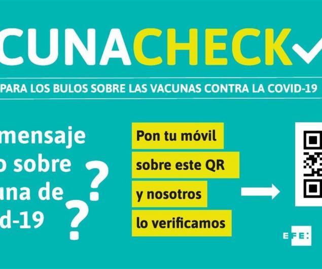 Cartel que se distribuirá en farmacias de toda España contra la desinformación en vacunas.
