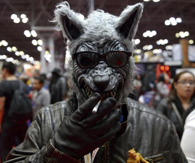 Un hombre disfrazado de lobo asistió al Festival del Cómic que se celebró en Nueva York en 2012. EFE/Justin Lane/Archivo