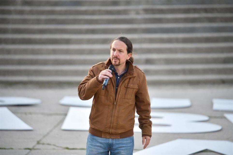 El candidato de Podemos a la Comunidad de Madrid, Pablo Iglesias, participa en un acto de campaña. EFE/Podemos