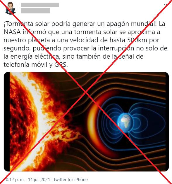 tomenta solar apagón