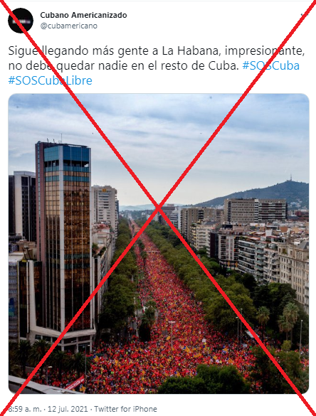cuba protestas barcelona