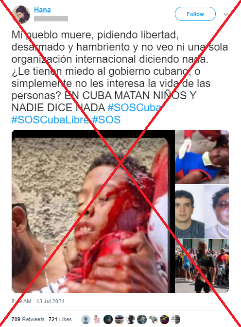 niño muerto protestas cuba