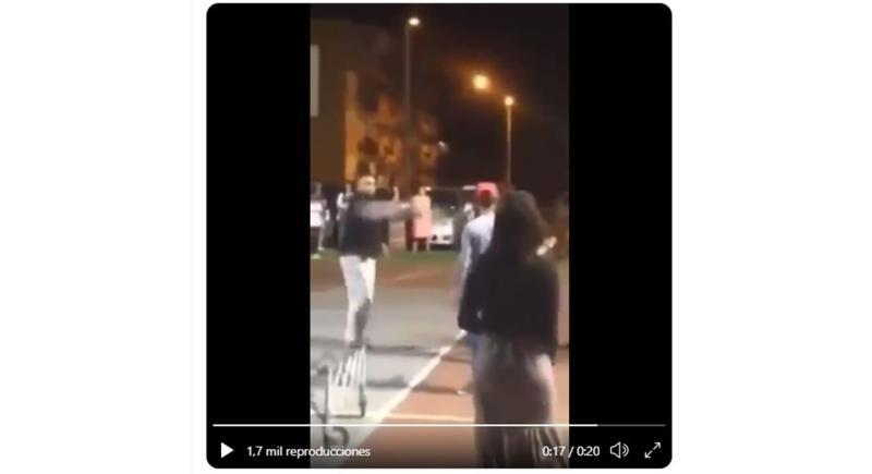 Captura de pantalla del vídeo que se ha hecho viral y que corresponde a una dramatización en Puerto Rico.EFE/Redes Sociales.