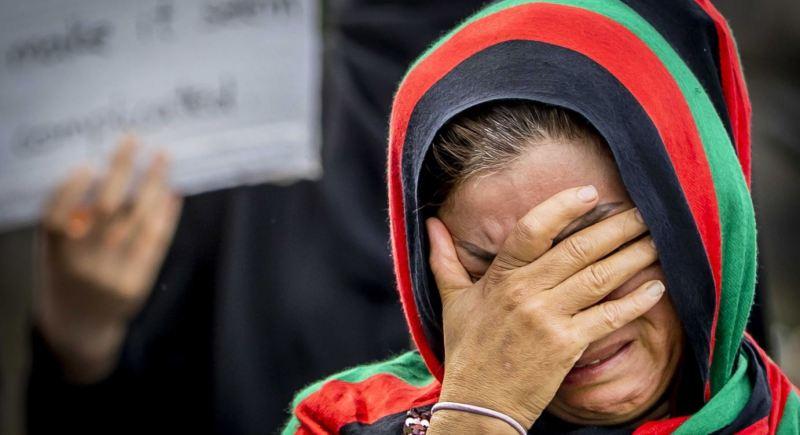 Afganistán talibanes talibán mujeres manifestación protesta Irán