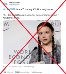 Greta Thunberg hijos carne